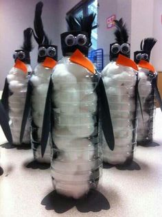 Winter these are cute penguins and it's a clever craft idea.