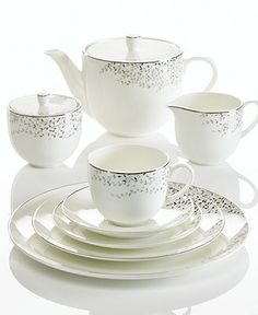Mikasa Shimmer Vine Dinnerware Collection - Fine China - Meals and . Bone China Dinnerware, Dinnerware Sets, Vase Deco, China Tea Sets, Dinner Sets, Dinner Ware, Fine China, Tea Pots, Dishes