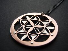Double Layer Flower of Life Pendant  by JeanBurgersJewellery, $160.00