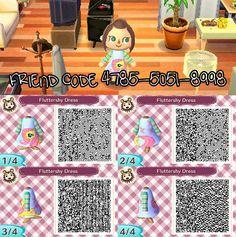 Animal Crossing New Leaf - QR Code Fluttershy Dress by emalee86.deviantart.com on @deviantART