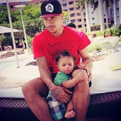 Derrick Rose and his son, Derrick, Jr., aka, PJ