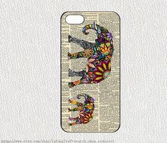 iphone case iphone 4/4S case iphone 5 cover samsung gaxaly S3 S4 case hard case,Two elephants on Etsy, $6.89