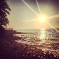 sunset over puerto vallarta, mexico