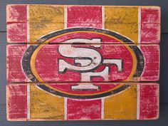San Francisco 49ers Vintage looking sign by HotShotPalletworks