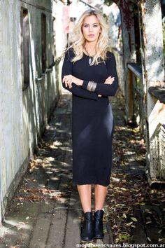 Vestidos otoño invierno 2016 Reina Ana. Moda urbana otoño invierno 2016.
