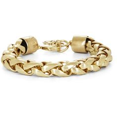 BCBGMAXAZRIA Rope Chain Bracelet ($19) ❤ liked on Polyvore featuring jewelry, bracelets, accessories, pulseiras, bijoux, gold, bracelet jewelry, bracelet bangle, adjustable bangle and rope chain bracelet