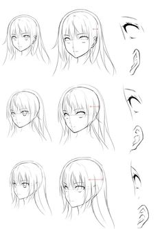 16 Ideas for drawing reference eyes angles Manga Drawing Tutorials, Manga Tutorial, Drawing Techniques, Drawing Skills, Drawing Reference, Drawing Sketches, Drawings, How To Draw Anime Eyes, How To Draw Hair