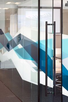 Algomi Headquarters. // very cool patterns, frosting on glass walls: