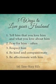 5 Ways to Love your husband❤