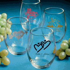 It' clear that these personalized stemless wine glass favors are a great way to inspire a truly memorable toast on your special day. Wedding Favors Cheap, Personalized Wedding Favors, Personalized Favors, Wedding Favours, Wedding Ideas, Wedding Stuff, Dream Wedding, Party Favors, Wedding Gifts
