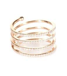 Stone - Vertigo 18kt rose gold ring with white diamonds - mytheresa.com GmbH
