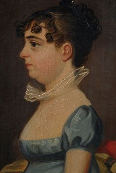Miss Catherine Kubler Age 20 yrs Lancaster Penns. Painted in 1814 by Eicholtz""