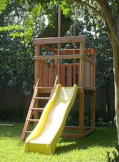 Jack's Backyard Redwood Endeavor Fort Kit. The plan is $24. Looks like a manageable project. Just need a swing on it.