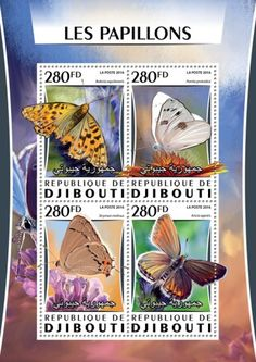 DJB16320a Butterflies (Boloria aquilonaris; Pontia protodice; Strymon melinus; Aricia agestis) Butterflies, Stamps, Prints, Seals, Butterfly, Stamping, Postage Stamps, Stamp, Caterpillar