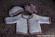 Crochet for Boys! Crochet a newborn set (Links to FREE patterns