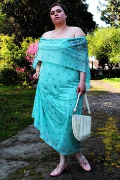 Vintage  1960's White Beaded Handbag w/ Matching by TheCurvyElle