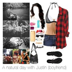 """A natural day with Justin"" by myllenna-malik ❤ liked on Polyvore featuring Sweaty Betty, Tkees, Essie, Billabong, Charlotte Russe, Eos, COOLA Suncare, Goldgenie, River Island and Accessorize"