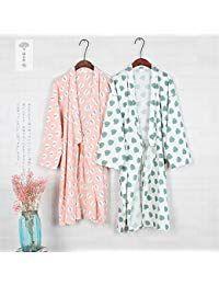 Taglia L Fancy Pumpkin Abito da donna giapponese Abito in cotone Kimono Pigiama Camicia da notte