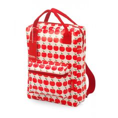 Backpack - Apple, Eco friendly kids accessories for school Little Backpacks, Kids Backpacks, Eco Friendly Backpacks, Kids Lunch Bags, Starting School, Retro Baby, Baby Kind, Red Apple, Louis Vuitton Damier