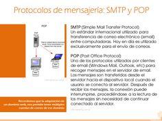 17 Más información: http://es.kioskea.net/contents/279-protocolos-de-mensajeria-smtp-pop3-e-imap4 http://www.informatica-hoy.com.ar/aprender-informatica/Que-es-SMTP-POP-e-IMAP.php