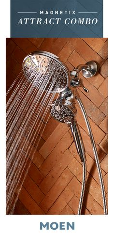 Poised style and intelligent design come together in our Magnetix Combo showerhead. White Bathroom, Small Bathroom, Master Bathroom, Intelligent Design, Master Bath Remodel, Kitchen And Bath Design, Dream Bathrooms, Bathroom Renovations, Shower Heads