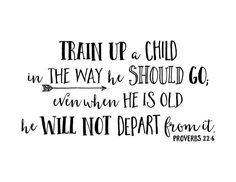 Proverbs 22:6 Train up a child in the way he should go, wall decal, church nursery, arrow, Vinyl wall art, Nursery bible Verse PRO22V6-0003 by WildEyesSigns on Etsy