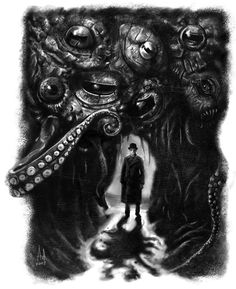 funkystarfishy: Lovecraft's cave by Alejandro Villén Yog Sothoth, Call Of Cthulhu Rpg, Lovecraftian Horror, Steampunk Couture, Hp Lovecraft, Lovely Creatures, Love Craft, Body Mods, Dark Fantasy