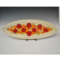Handmade Ceramic Serving Platter - Fish Plate by Kris Cravens Pottery on Gourmly