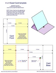 4 x 4 Easel Card Template