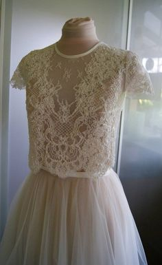 wedding tops LILLY Wedding bolero of lace with beads and sequins top