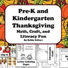 Thanksgiving Learning Center Fun for your Pre-K and Kindergarten Students:  This set includes four different learning centers and activities ..