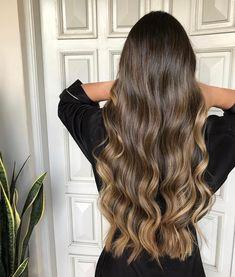 72 Brunette Hair Color Ideas in 2019 Brown Hair Balayage, Brown Blonde Hair, Brunette Hair, Hair Highlights, Pretty Hairstyles, Straight Hairstyles, Long Hair Tips, Light Hair, Gorgeous Hair