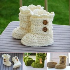 Crochet Baby Snow Boots Free Pattern