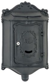 Colonial Wall Mount Locking Mailboxes Black