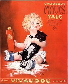 1920s Usa Mavis Talc Cats Talcum Drawing