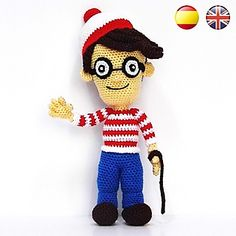 Download the crochet pattern of Wally also know as Waldo