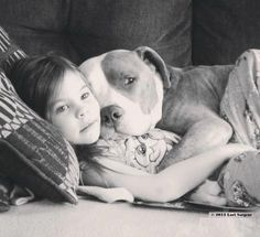 Love this! This is how pitbulls should be portrayed. They are wonderful family dogs when raised correctly.