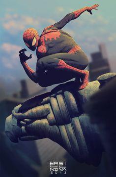 Spider-Man by Bruno Silva (after Jackson Herbert)