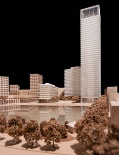 interview with architect david chipperfield (model of canada water project, london, UK, 2013)