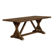Lowest price online on all Coaster Bridgeport Dining Table in Weathered Acacia - 105521