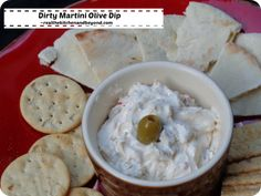 Make your own dirty martini spread for a fraction of the price