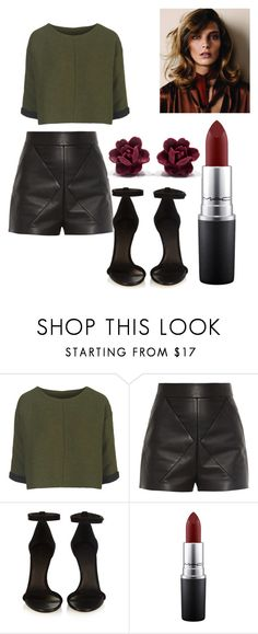 """""""166."""" by thaina-poiato ❤ liked on Polyvore featuring Topshop, Balenciaga, Isabel Marant, MAC Cosmetics, women's clothing, women's fashion, women, female, woman and misses"""