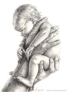 Baby, Geddes, Kind, Schwarz weiß, Hand, Grau