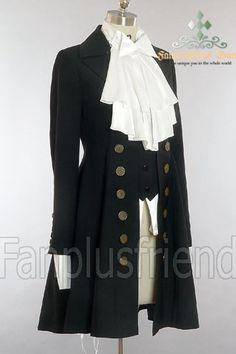 Elegant Gothic Aristocrat: Embellished-vest Pirate Jacket  $105