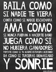 sonríe con vilmupa Quotes In Spanish, English Quotes, Spanish Phrases, English Phrases, Words Quotes, Wise Words, Life Quotes, Sayings, Quotes To Live By