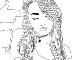 outline necklace gun fake hair demi lovato shirt