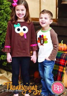 #ThanksgivingCountdown Thanksgiving is near!! Are you ready?? We think these two tops from Mud Pie will make a terrific duo for your little turkeys this year!!! • Mud Pie Turkey Tunic and Football Turkey Raglan Tee! • BOTH under $18!! • Free Shipping on $50 #BBKids #thanksgiving #mudpie #turkeytime www.brandisboutiqueshop.co > Kids > Holiday Outfits > Thanksgiving