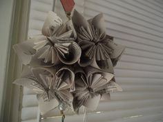 Christmas decoration made from a book