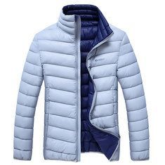 Winter Thicken Warm Multi Pockets Solid Color Detachable Hood Jacket for Mensales-NewChic Mobile