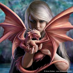 Ailith with a small dragon friend?